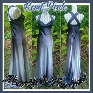 Onyx Ombre Long Flowing Formal Dress Size 4